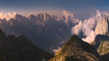 Albanian Alps seen from Kollata