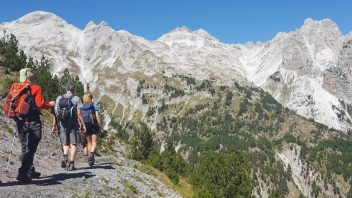Peaks of the Balkans trail passess through Valbona Pass
