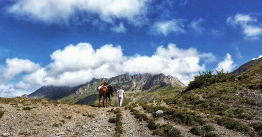 High Scardus Trail Sharri Mountains the border between Albania and Kosovo