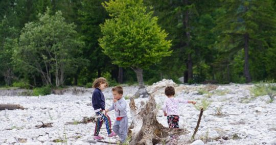 kids playing in the ground - peaks of the balkans charity